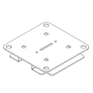 Brakett fruktposedispenser m/ dobbelsidig tape