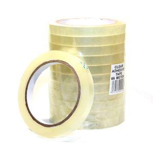 Klar tape 12 mm, 12 ruller