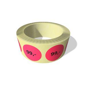 Etikett rund 30mm RØD