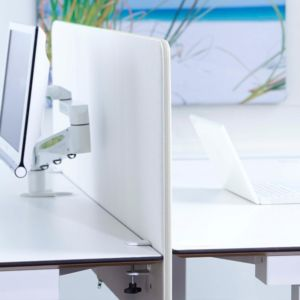 Bordskjerm 650x1800mm Hvit
