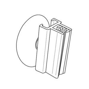 Plakatholder 180° m/sugekopp, 10 stk