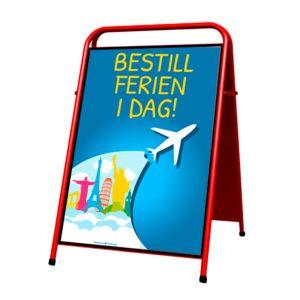 Gatebukk Easy Sign 70*100 cm RØD