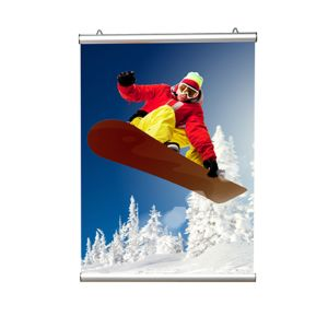 Opphengslist for plakater 600mm ALUMINIUM