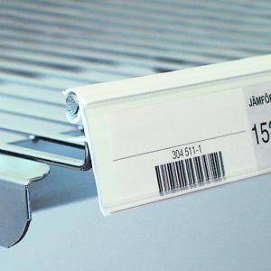 Etikettlist for trådhyller 26*885mm, 25 pk