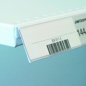Etikettlist med lim for bunnhylle FRONT 30*885mm, 25 pk