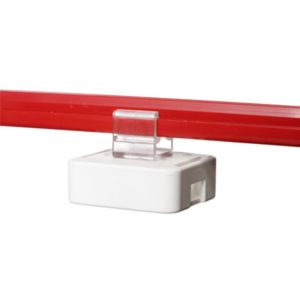 Magnet med horisontalt feste til plastramme, 10 pk