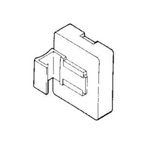 Magnet med vertikalt feste til plastramme, 10 pk