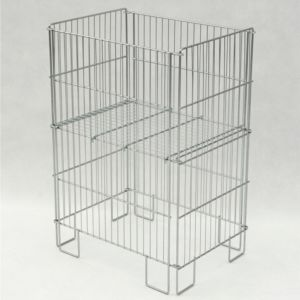 Foldbar eksponeringskurv 55x39x77 cm