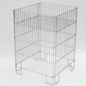 Foldbar eksponeringskurv 55x55x77 cm