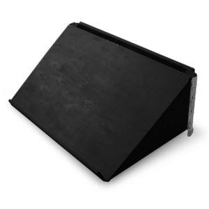 HALVPALL - Plate skrå langside sort