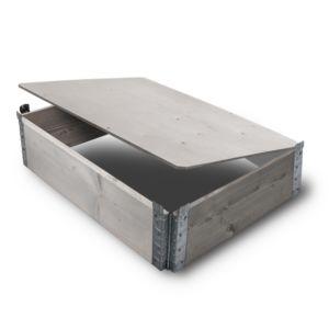 HALVPALL - Plate flat grå