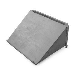 HALVPALL - Plate skrå langside grå