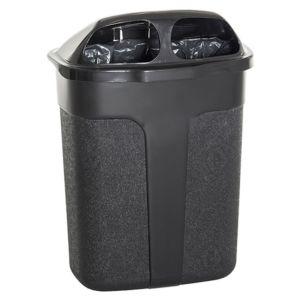 Avfallsbeholder i plast 60 liter for oppheng SORT