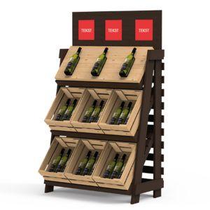 Displaystativ for flasker